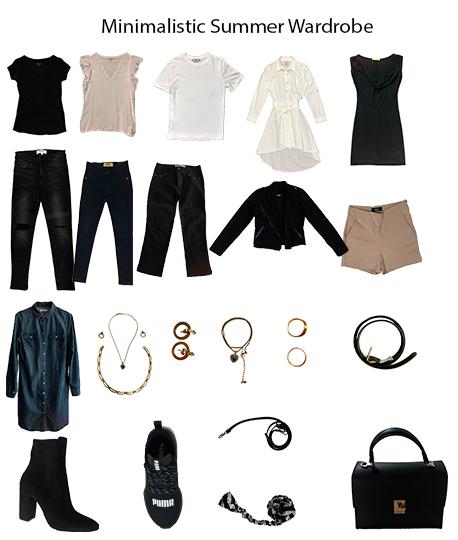 Capsule Wardrobe for summer